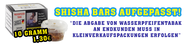 10 Gramm Shisha Tabak für Shisha Bars